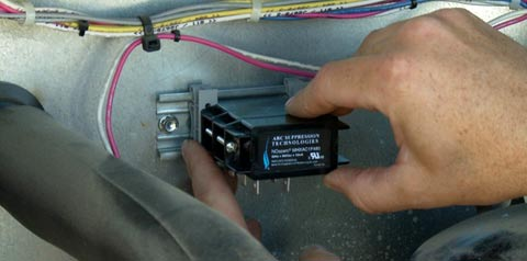 NoSparc MHXAC Install contactor
